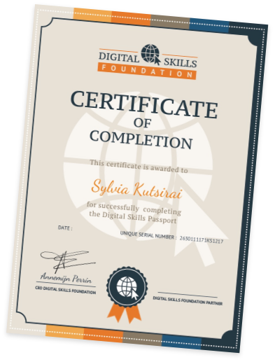 certificate dsf